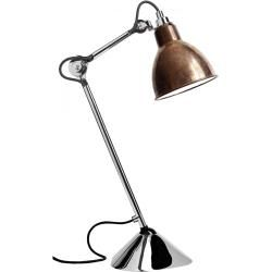 Photo of Dcw Lampe Gras No 205 Chrome table lamp, brass shade Dcw Editions