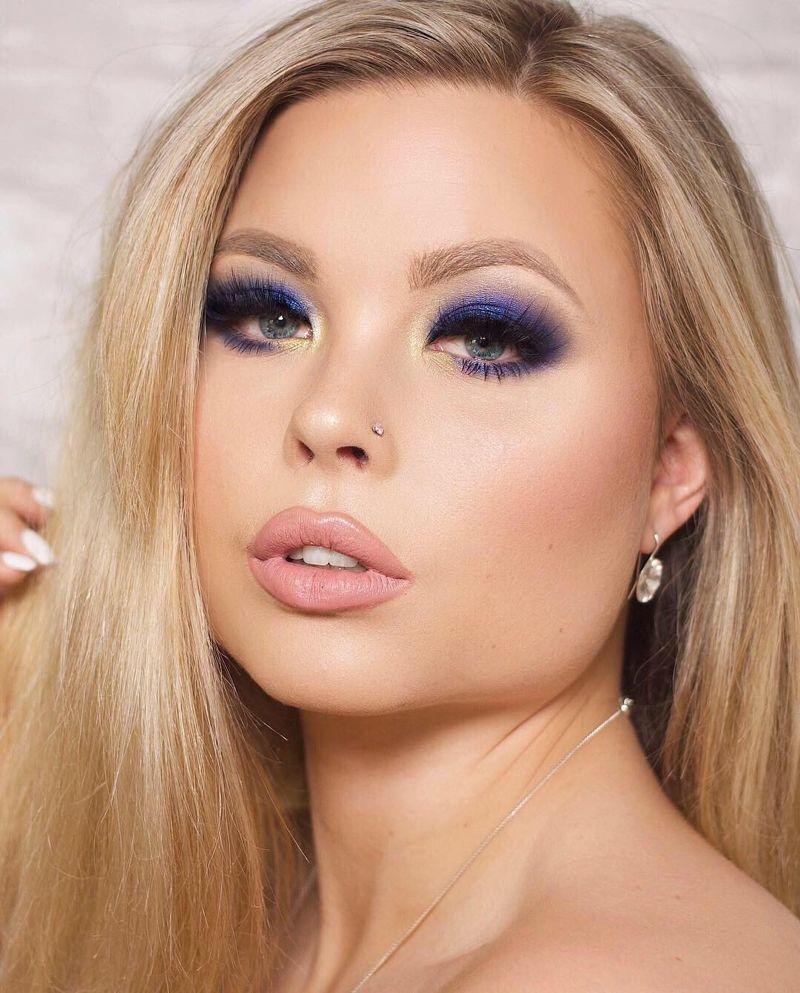 Blaue haare schwarze lidschatten augen ⁂ Komplementärfarben