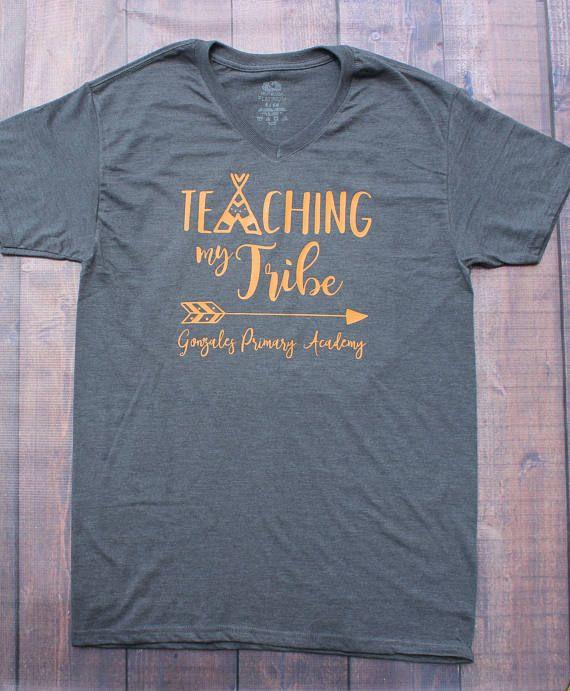 Teaching My Tribe Teacher Shirt Custom Teacher Shirt