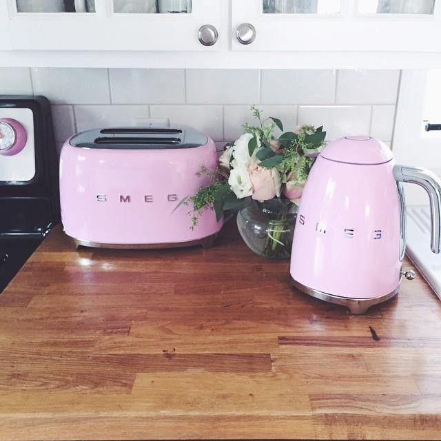 Smeg Toaster 2 Slice Pink Kitchen Smeg Kitchen Smeg