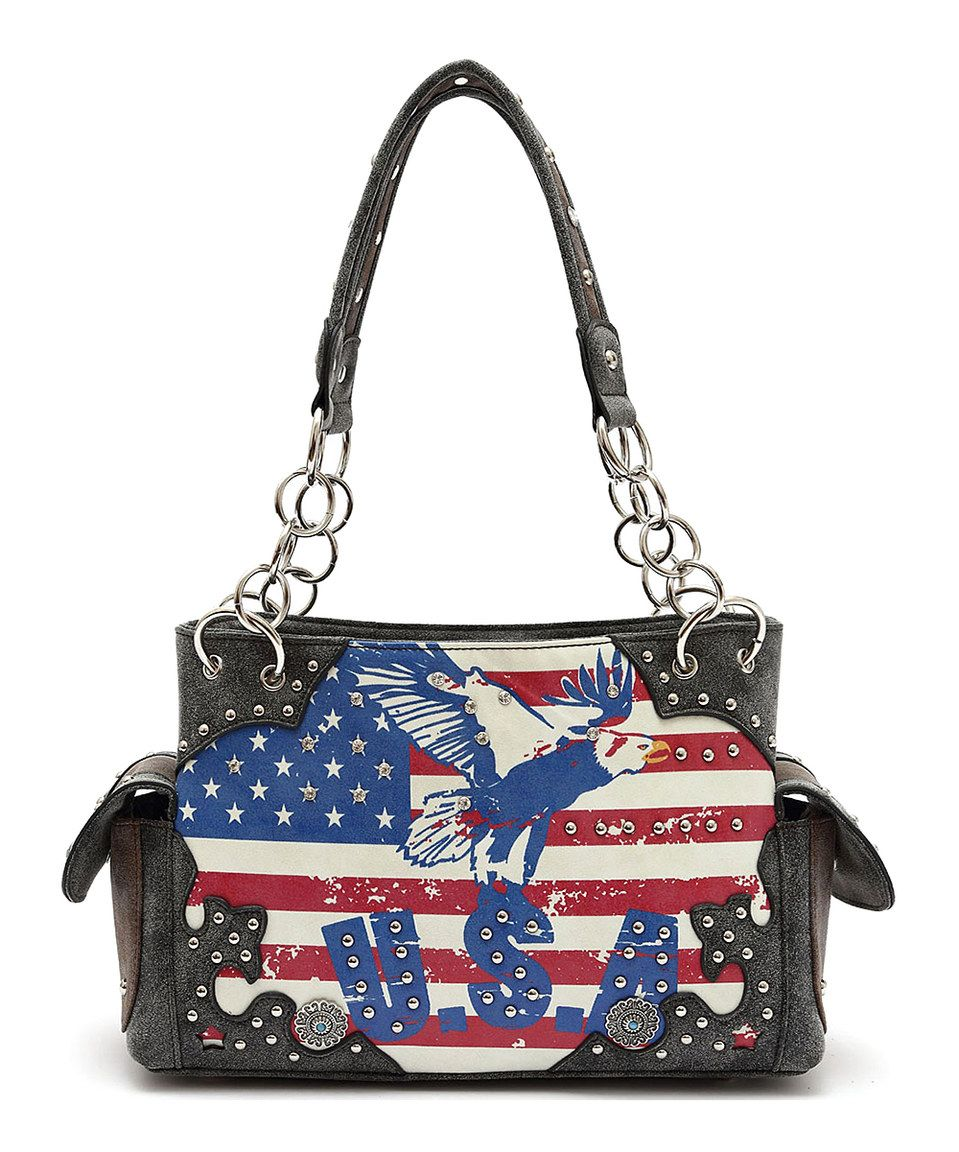 Look what I found on #zulily! Blue Heaven Black 'USA' Western Cowgirl Satchel by Blue Heaven #zulilyfinds