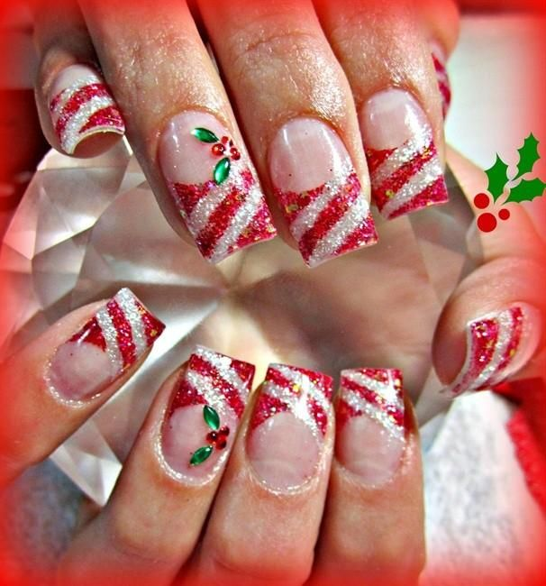 Peppermint Holly By Stephaniemercer From Nail Art Gallery Too Fun
