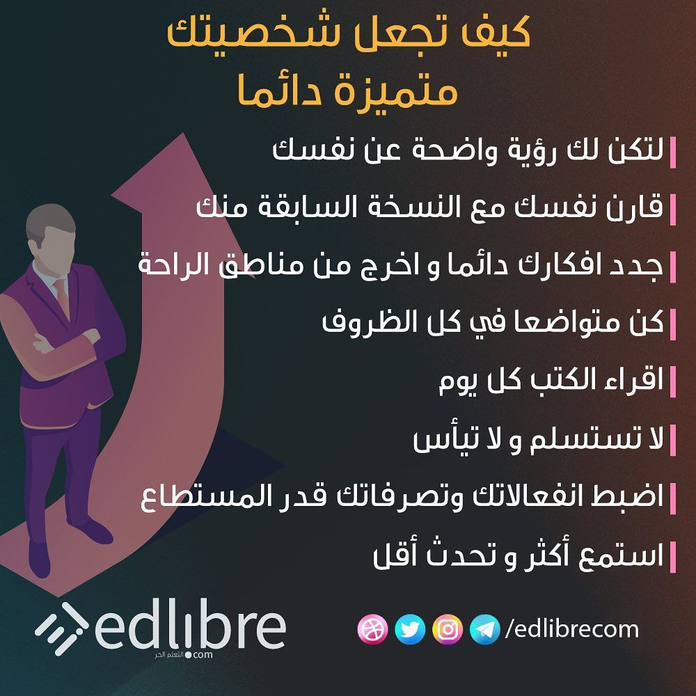 1 618 Likes 10 Comments Edlibre التعلم الحر Edlibrecom On Instagram كن متميزا كن مختلفا كن متو Study Motivation Quotes Learning Websites Words Quotes