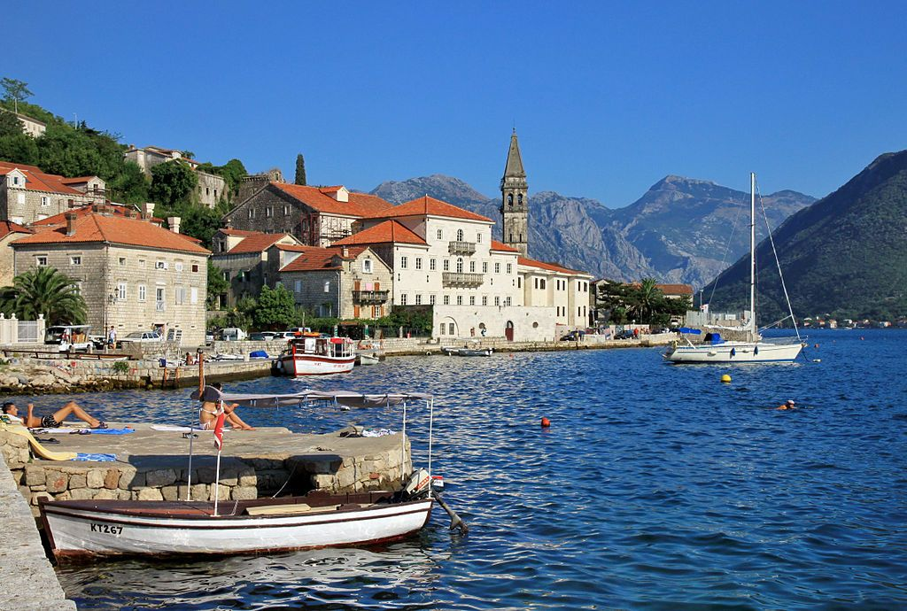 Perast in Bay of Kotor, Montenegro