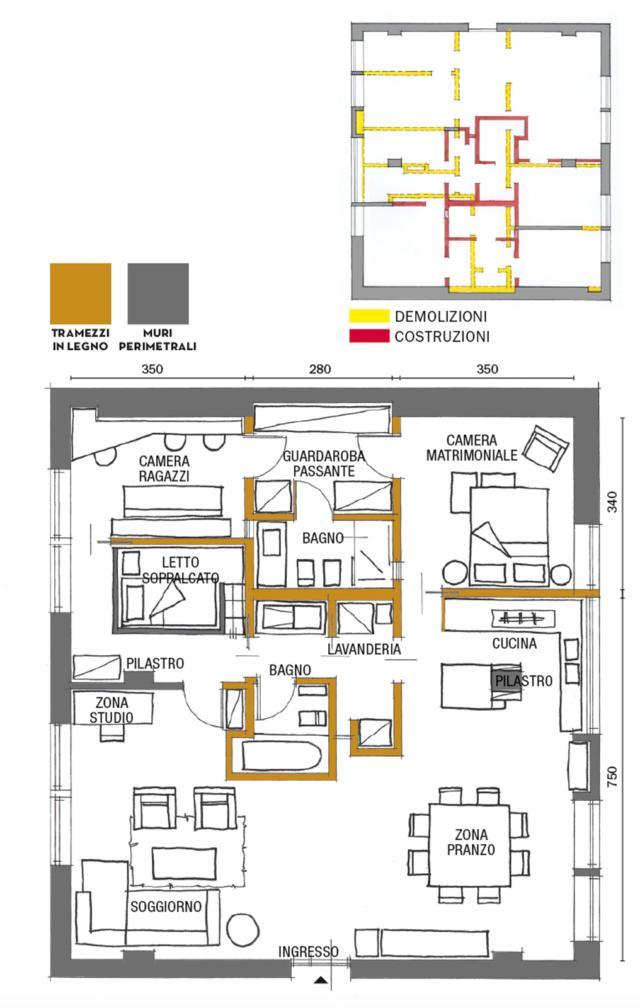 Una Casa Di 110 Mq Pop Eclettici Al Villaggio Olimpico