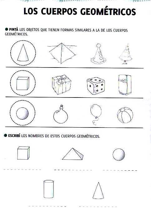Cuerpos Geometricos Actividades Actividades De Geometria Figuras Y Cuerpos Geometricos Practicas De Matematicas