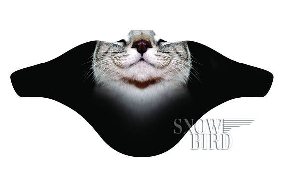 Happy Cat Face mask   Windproof Facemask   Face shield for snowboarding Skiing  Face mask Gift for sn db0ee824c32c
