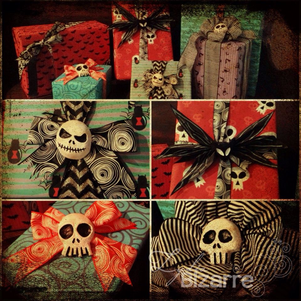 The Nightmare Before Christmas presents. Mini skulls available ...