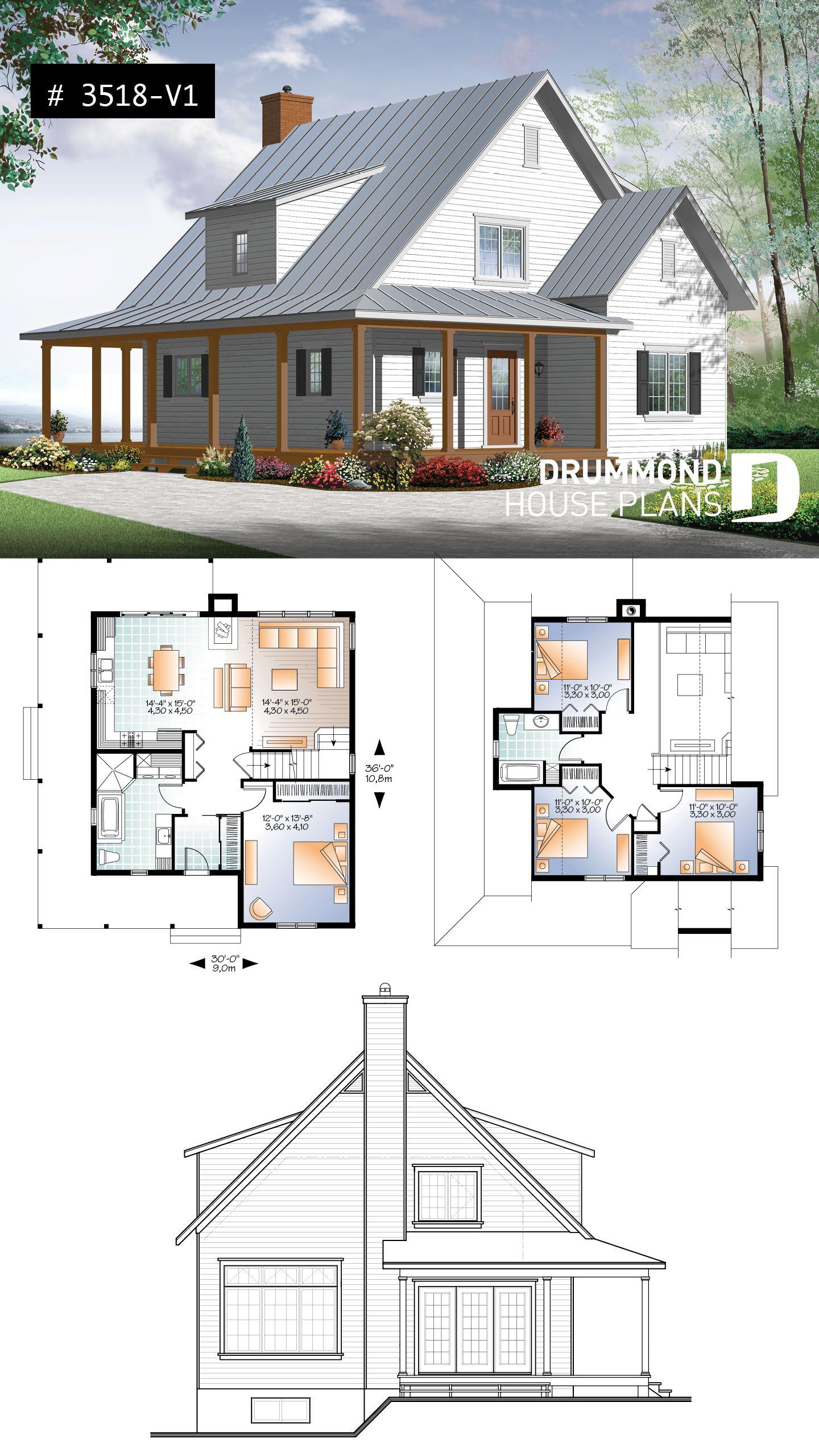 House Plan Hickory Lane 2 No 3518 V1 Affordable House Plans