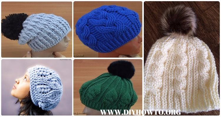 Collection of Crochet Cable Hat Free Patterns: Crochet Cable Beanie ...