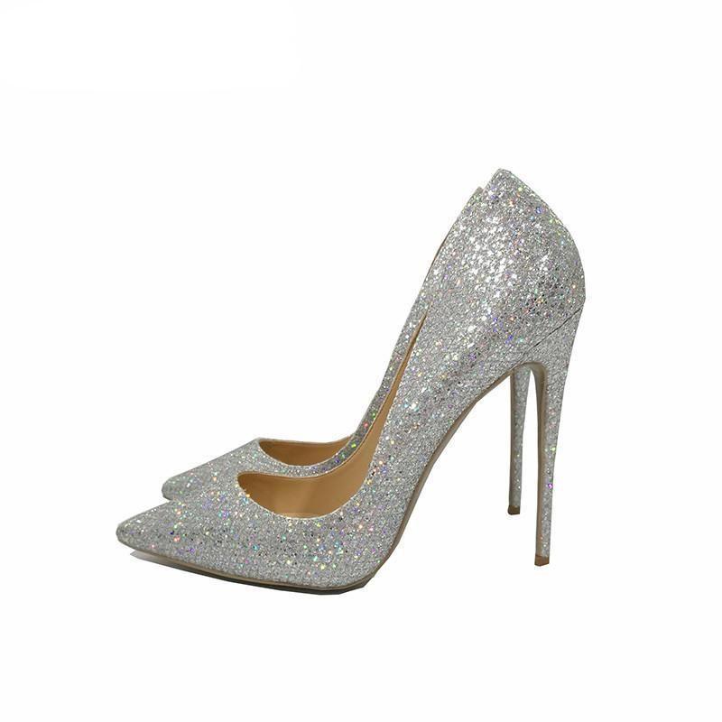 da7b52b3c0c Spring Autumn wedding shoes bride silver sexy high heels pumps women shoes  heels pumps 12cm pointed toe stiletto  dresses  swimsuits  weddingdresses   womens ...