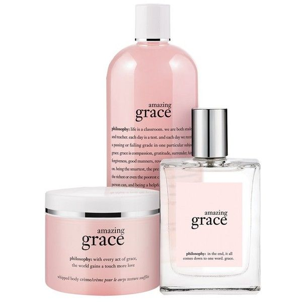 Philosophy Amazing Grace Layering Set 55 Found On Polyvore Philosophy Amazing Grace Amazing Grace Philosophy Beauty