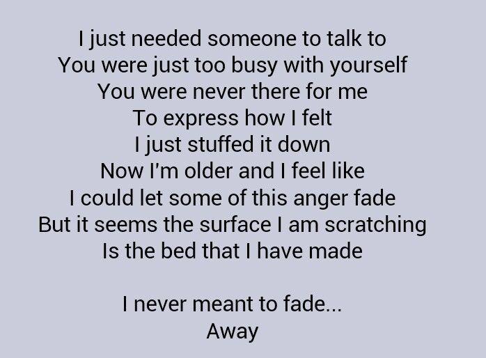 I just need someone to talk to lyrics