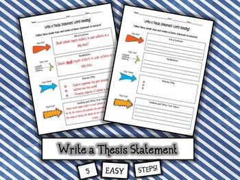 easy steps to writing a thesis statement Browse and read how to write a thesis statement in four easy steps ppt how to write a thesis statement in four easy steps ppt feel lonely what about reading books.