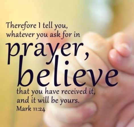 Jesus tells us to have faith when we pray, believing that He has the power to answer our prayers. He is the almighty, powerful creator- He will answer! Sometimes it is yes, sometimes it is no, sometimes it is wait, but he WILL answer. Have faith, and believe when you pray.