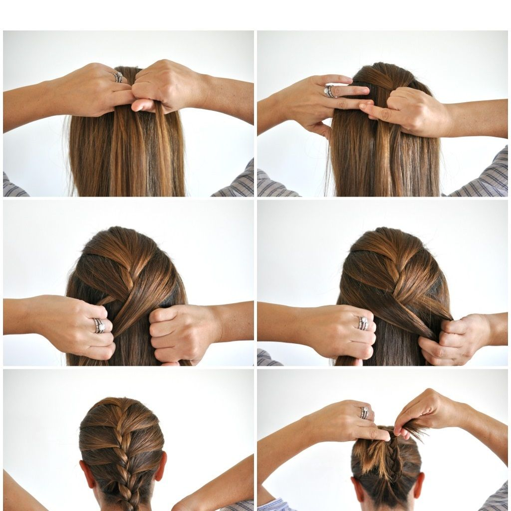 How To Do A French Braid On Your Own Hair Step By Step Comment
