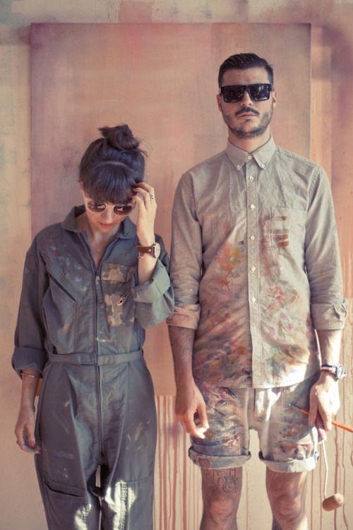 Funky boilersuit boiler suit overalls romper coverall artist art festival oversized