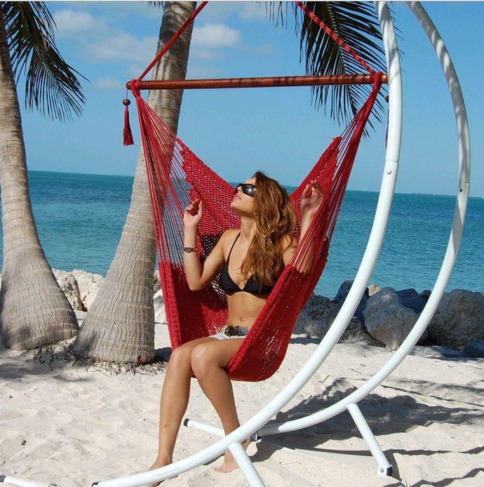 lchcc hammock p spun inch cream htm large hammocks caribbean polyester chair soft