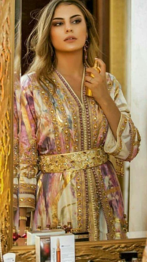 haute couture de caftan-mghribi caftan marocain pour les filles et les femmes  caftan  marocain_2018  caftan  luxe  marocain_2018  caftan  brocard