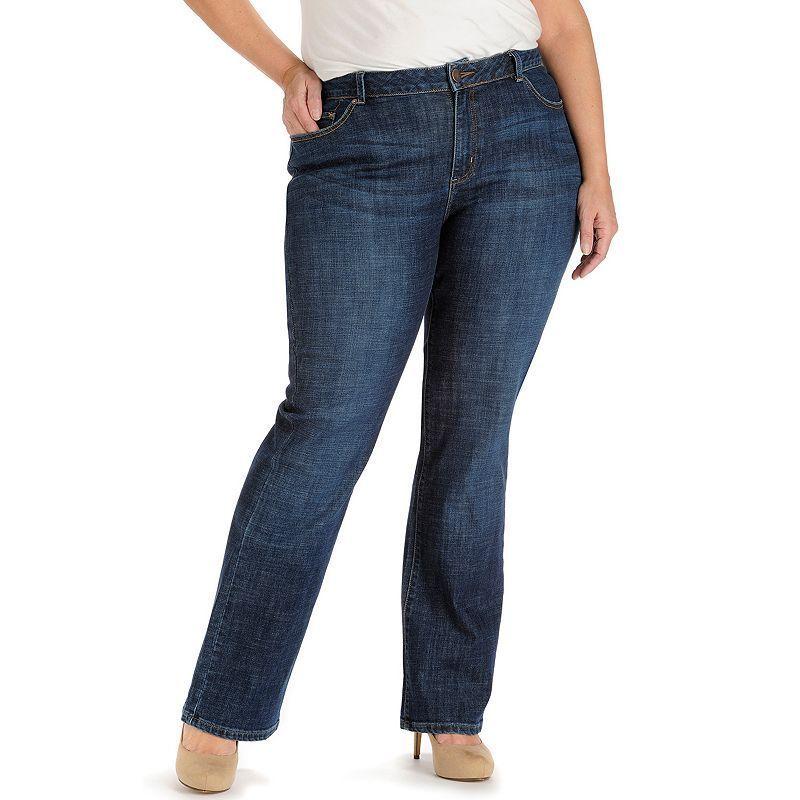 3068d7d9e47f Plus Size Lee Curvy Bootcut Jeans, Women's, Size: 25 - regular, Dark Blue