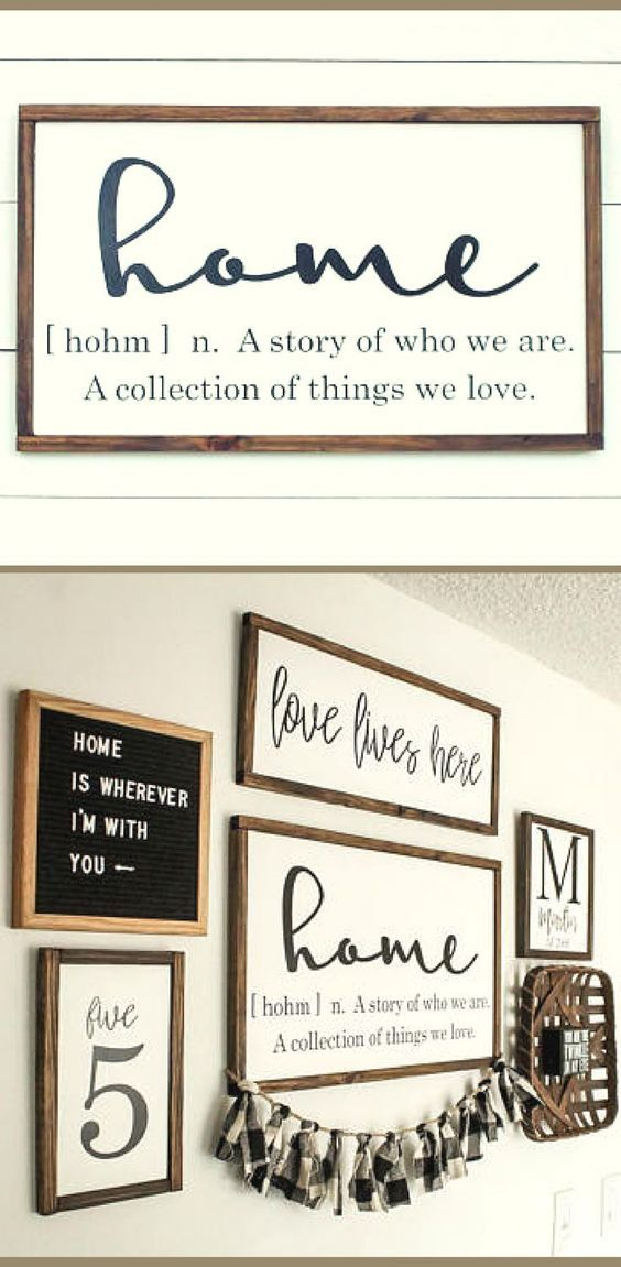 Home Sign Home Definition Wood Sign Farmhouse Sign Wood Sign Rustic Sign Rustic Wall Decor Living Roo Rustic Wall Decor Kitchen Centerpiece Wall Signs
