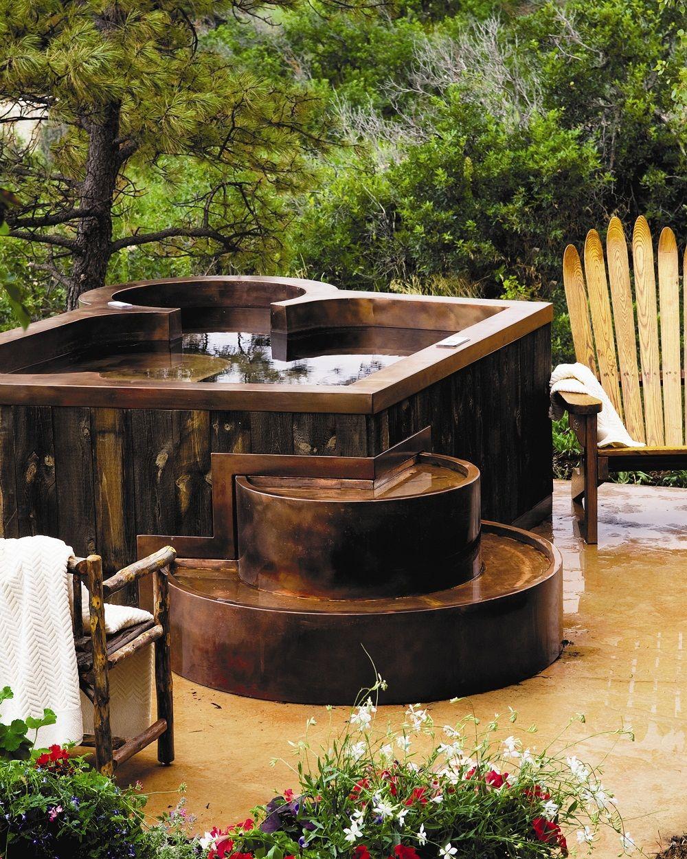 Diamond Spas Copper Hot Tub Design Cabin Hot Tub Hot Tub Cabin Homes