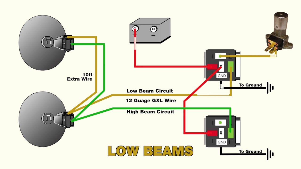 How To Wire Headlight Relays How To Clean Headlights Motorcycle Wiring Automotive Care