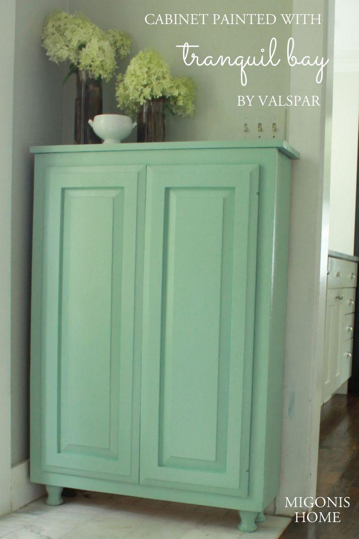 Painted Slab Door Kitchen