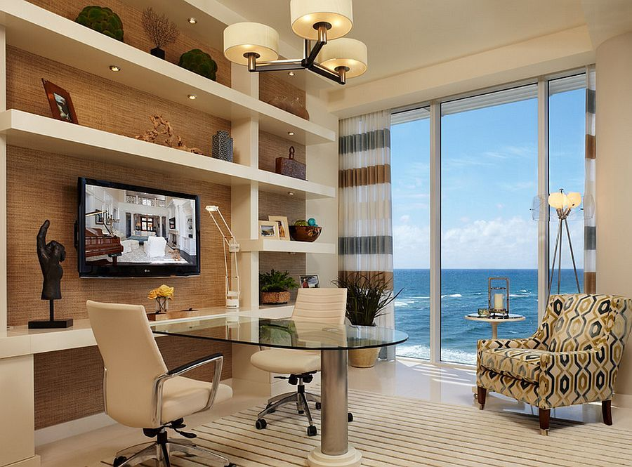12 Remarkable Home Offices with an Ocean View Office designs