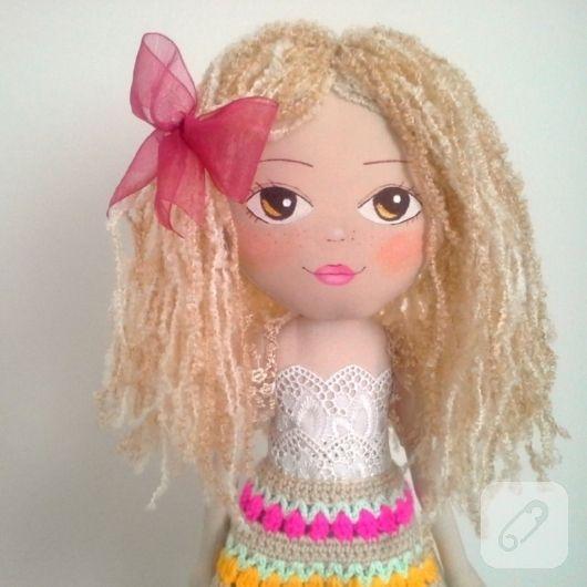 Kıvırcık bez bebek - kumaş oyuncaklar – 10marifet.org