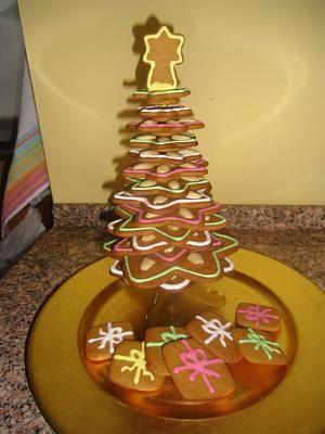 Albero Di Natale Biscotti.Albero Di Biscotti Ricette Di Natale Natale Pan Di Zenzero