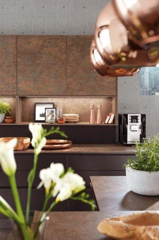 K che in Braun und Kupfer #diydekorküche #dekorküchediy # ...
