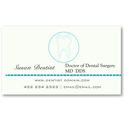 Dentist Busienss Card For Dentists Blue Tooth Minimalist Dental Hygienists Business Template