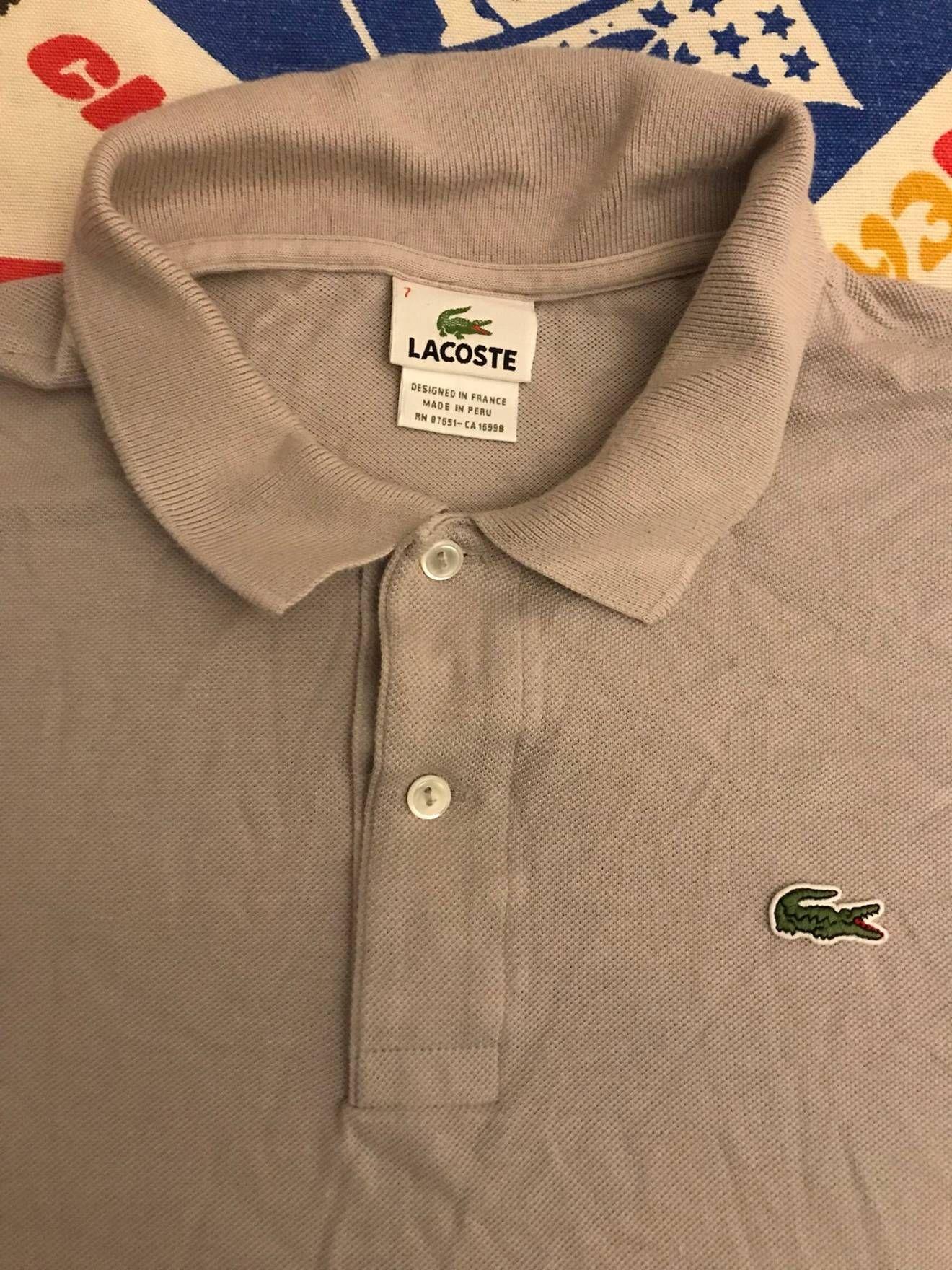 najlepsza strona internetowa profesjonalna sprzedaż ponadczasowy design Lacoste × Vintage 90s Vintage Lacoste Polo Shirt Grey Size ...