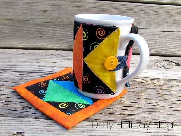 Art Deco Mug Rug Pattern and Sleeve | Art deco, Patterns and ... : quilted mug rugs free patterns - Adamdwight.com