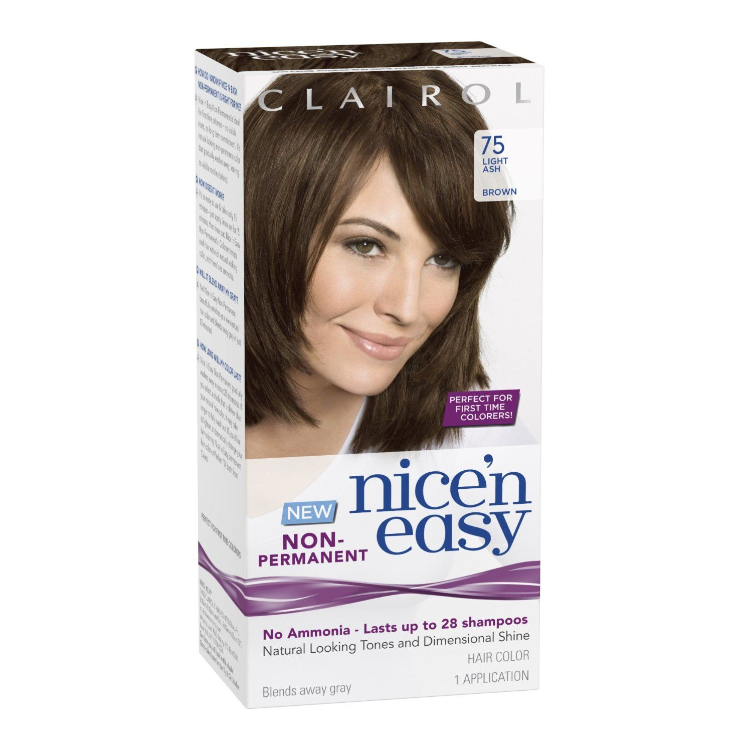 Clairol Nice N Easy Non Permanent Hair Color 75 Light Ash Brown 1