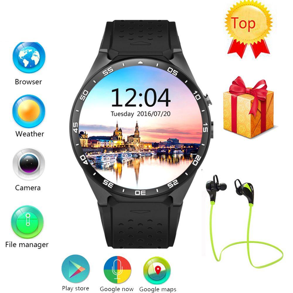 abc1f3d72a9 Barato Relógio inteligente Android 5.1 os MTK6580 KW88 CPU 1.39 polegada  Tela câmera 2.0MP 3G WIFI GPS smartwatch
