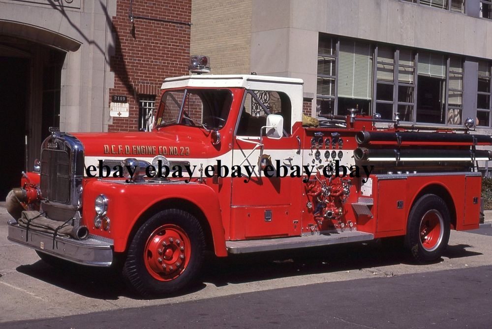 Fire Apparatus Slide - Washington DC - 1966 Ward LaFrance Engine 23