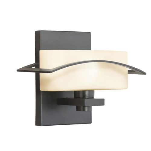 Suspension Painted Black One-Light Wall Sconce