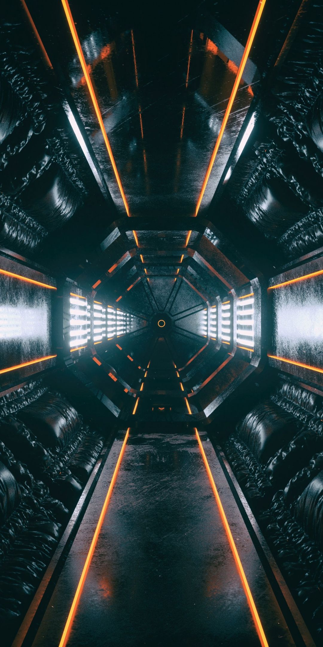 Orirod Space Room Glow Tunnel 1080x2160 Wallpaper Technology Wallpaper Dark Wallpaper Sci Fi Environment