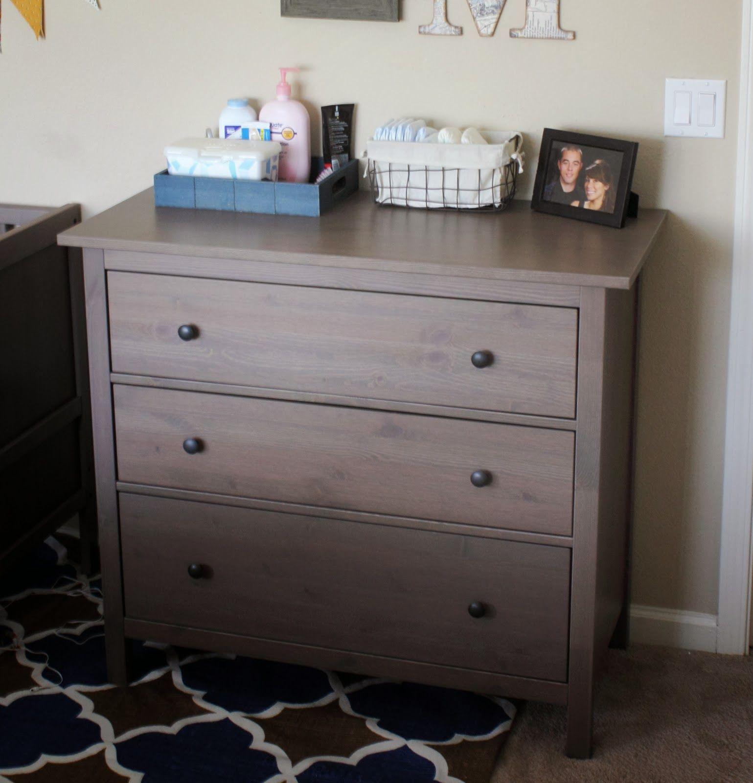 Hemnes Dresser In Grey Brown From Ikea 150