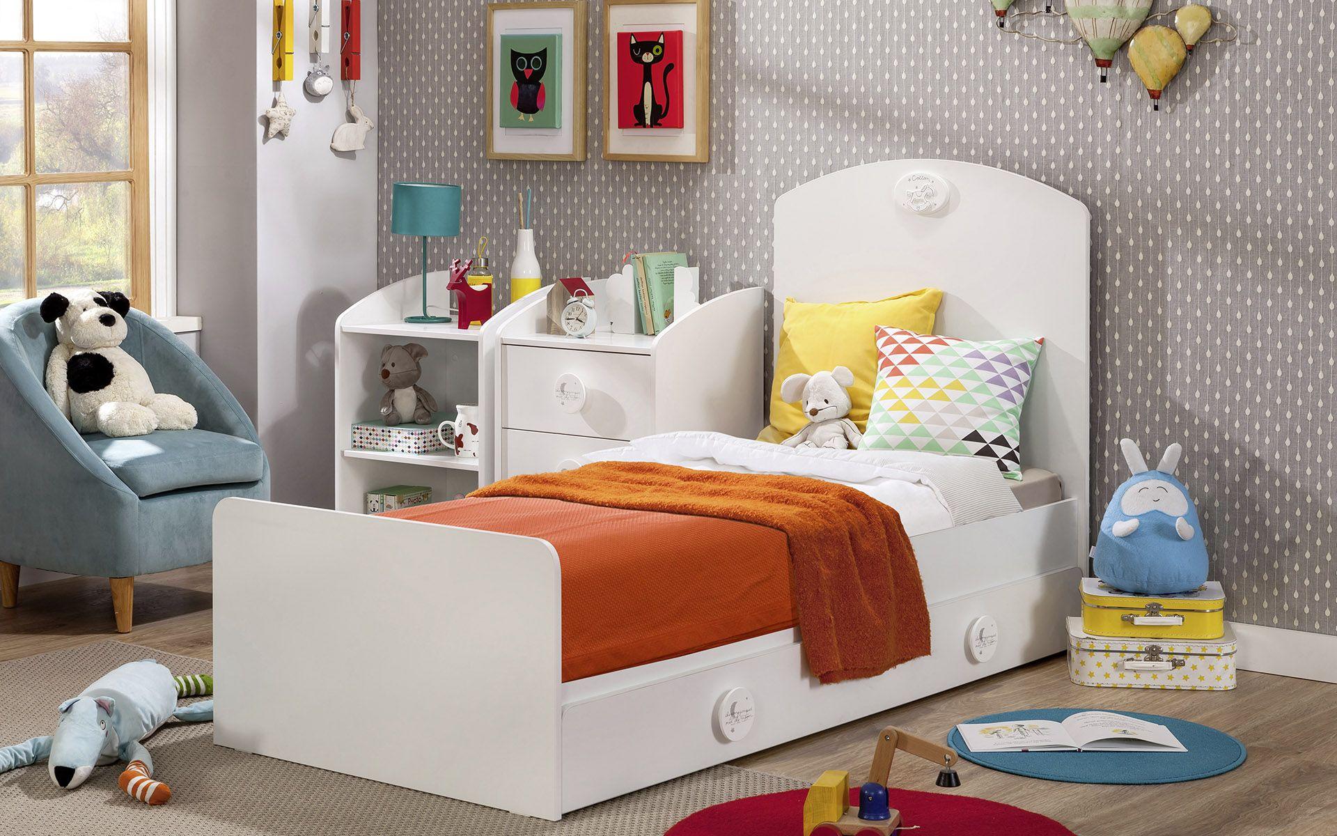 CHAMBRE BABY COTTON 2 – lit enfant – chevet enfant – fauteuil