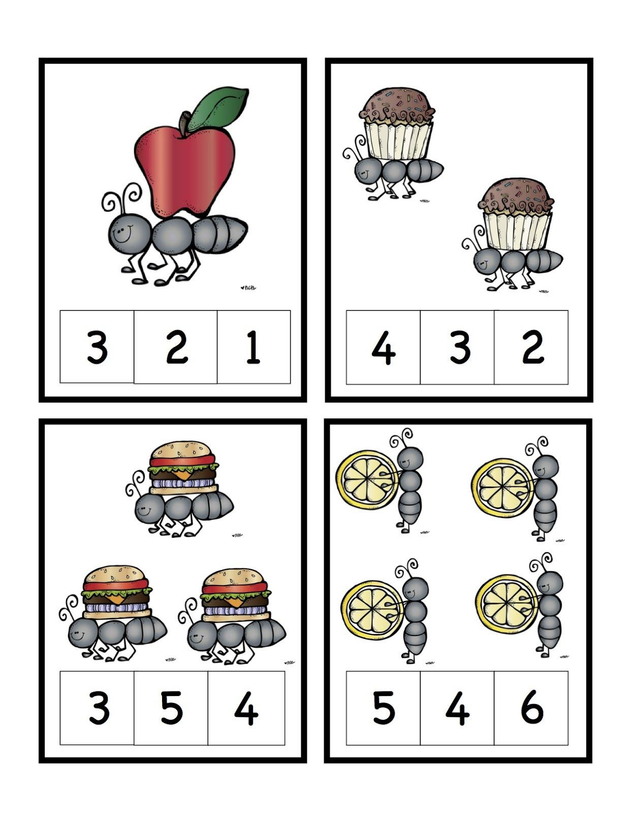 Ants Num Cards 1 4