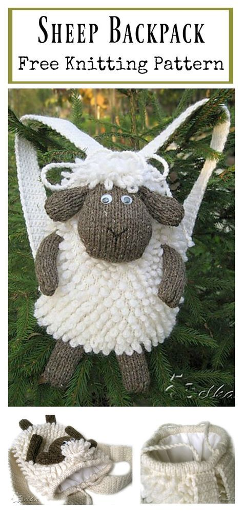 Sheep Backpack Free Knitting Pattern Pinterest Knit Patterns
