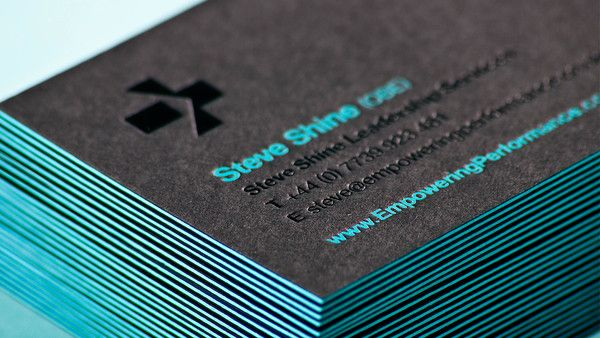 Steve Shine Obe By Analogue Via Behance Neon Business Cards Edge Painted Business Cards Graphic Design Business Card