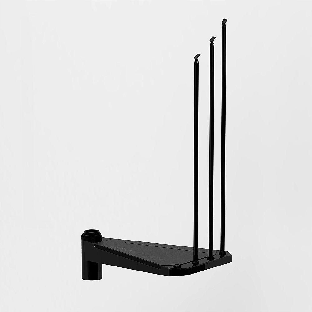 Best Arke Civik 55 In Black Spiral Staircase Add Riser 400 x 300