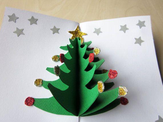 Cute Christmas tree pop up card \u003c3 Card, Christmas Pinterest
