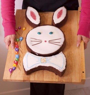 Photo de la recette : Gâteau Lapin de Pâques au chocolat – DIY en images pas à pas