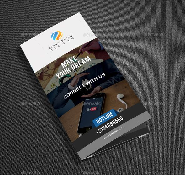 Free Business Brochure Photoshop Design Templates  Brochure
