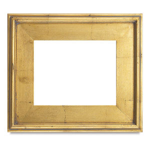 Blick Simplon Frame 3 1 4 9 X 12 X Gold Leaf Blick Art Materials In 2021 Gold Picture Frames Gold Frame Gallery Wall Gold Frame Wall